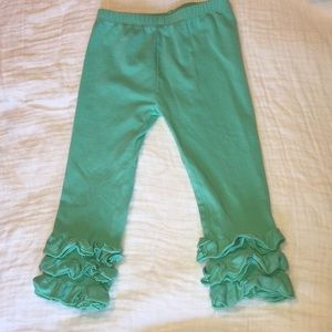 Other - Mint ruffle pants